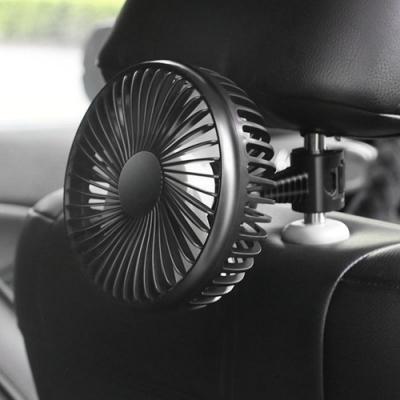 4吋汽車風扇(吸盤/頭枕椅背款兩用) 車用/後座風扇 USB接頭