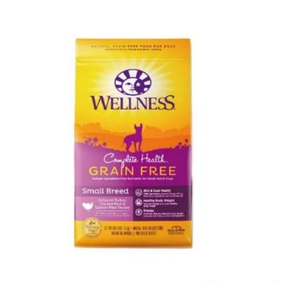 WELLNESS寵物健康-GRAIN FREE全方位無穀系列-小型犬無穀火雞肉食譜 4LBS