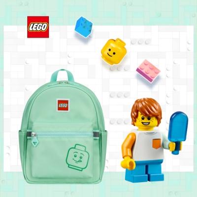 LEGO丹麥樂高笑臉小背包-積木表情符號綠色 20129-1938