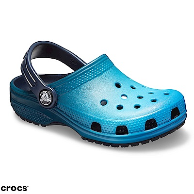 Crocs卡駱馳 (童鞋) 經典藍色漸層小克駱格 205432-4IN
