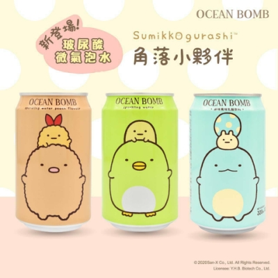 OcenBomb 玻尿酸微氣泡水-水蜜桃(330ml)