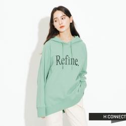 H:CONNECT 韓國品牌 女裝-簡約印字帽T-綠