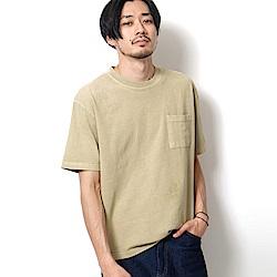 棉TEE素色短袖T恤印染(8色) ZIP日本男裝