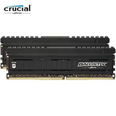 美光 Ballistix  Elite D4 3600 8G*2 狂野黑 散熱片超頻記憶體