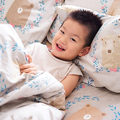 OLIVIA 好多好多熊 加大雙人床包美式枕套三件組 200織精梳純棉 台灣製