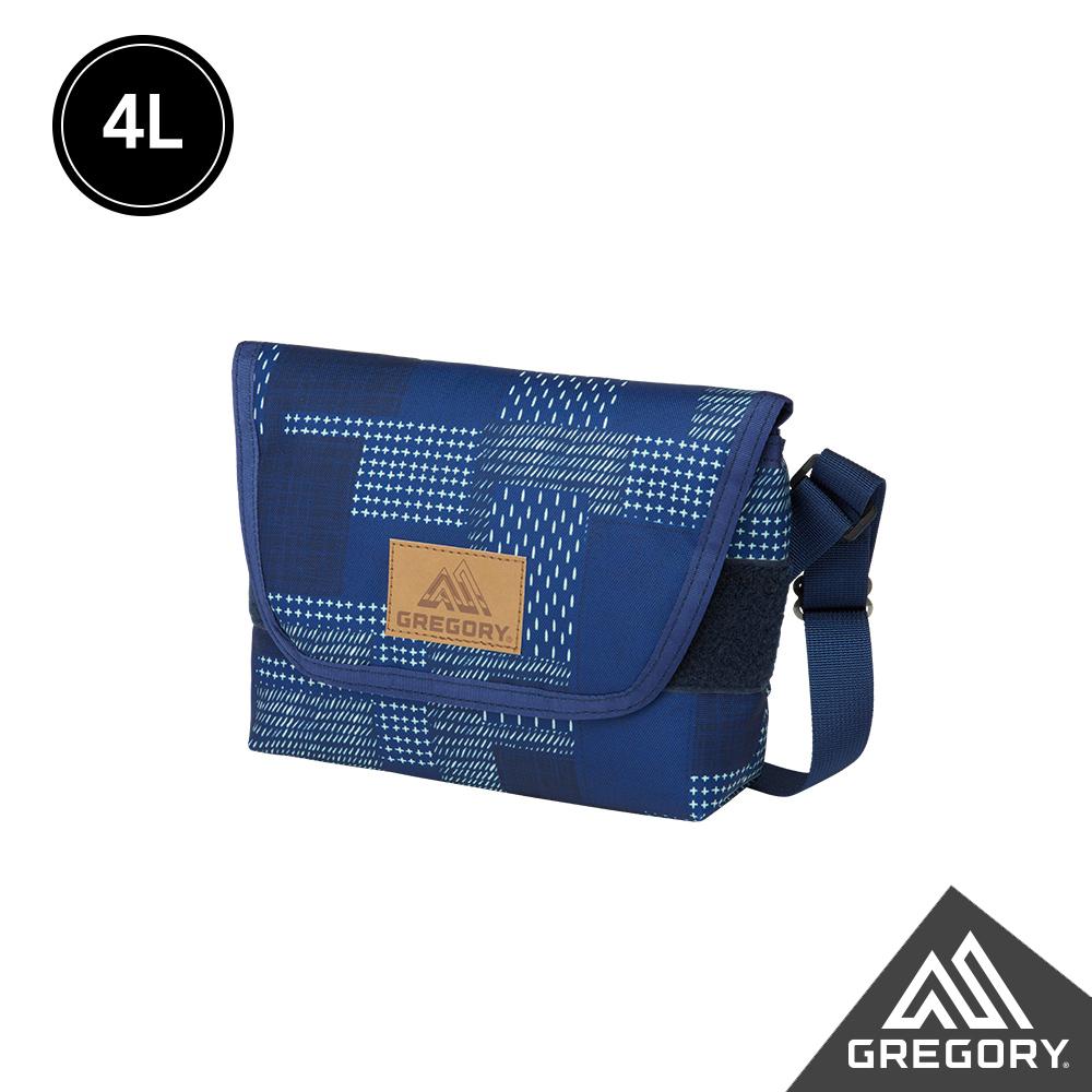 Gregory 4L TEENY郵差包 拼接藍染