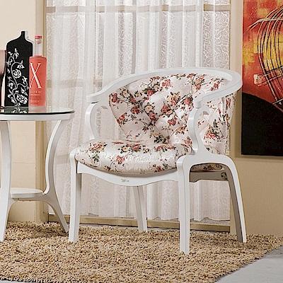 AS-維多莉雅白色休閒椅-58x46x77cm