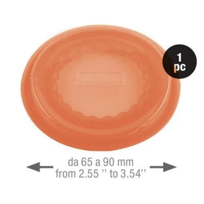 義大利製SiliKoMart-聰明保鮮蓋CAPFLEX橘色-L(6.5cm)