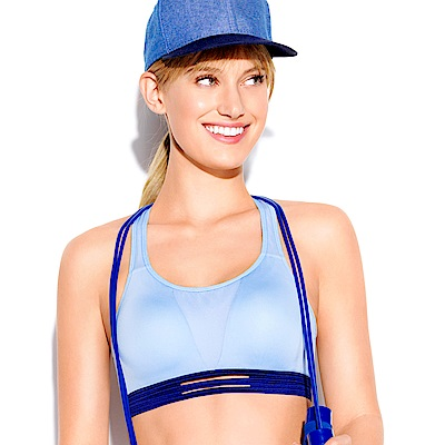 sloggi-Dynamic跳躍大理石B-C罩杯無鋼圈運動內衣(粉藍)