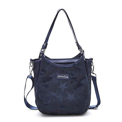 B.S.D.S冰山袋鼠-香巧班尼x直立式多夾層手提側背兩用包-炫彩藍