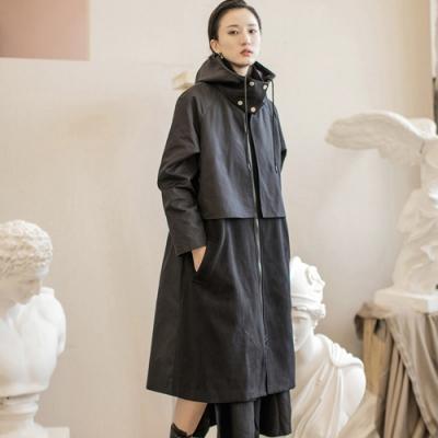 設計所在Style-假兩件原創自製工裝風拼接風衣外套
