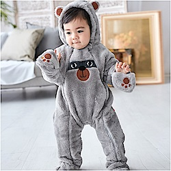 baby童衣 雙拉鍊動物造型包腳連身衣 82054