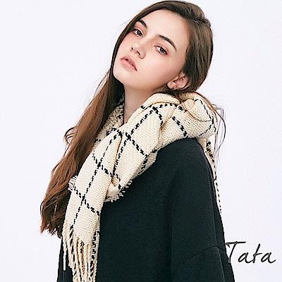 保暖撞色流蘇針織圍巾 共二色 TATA