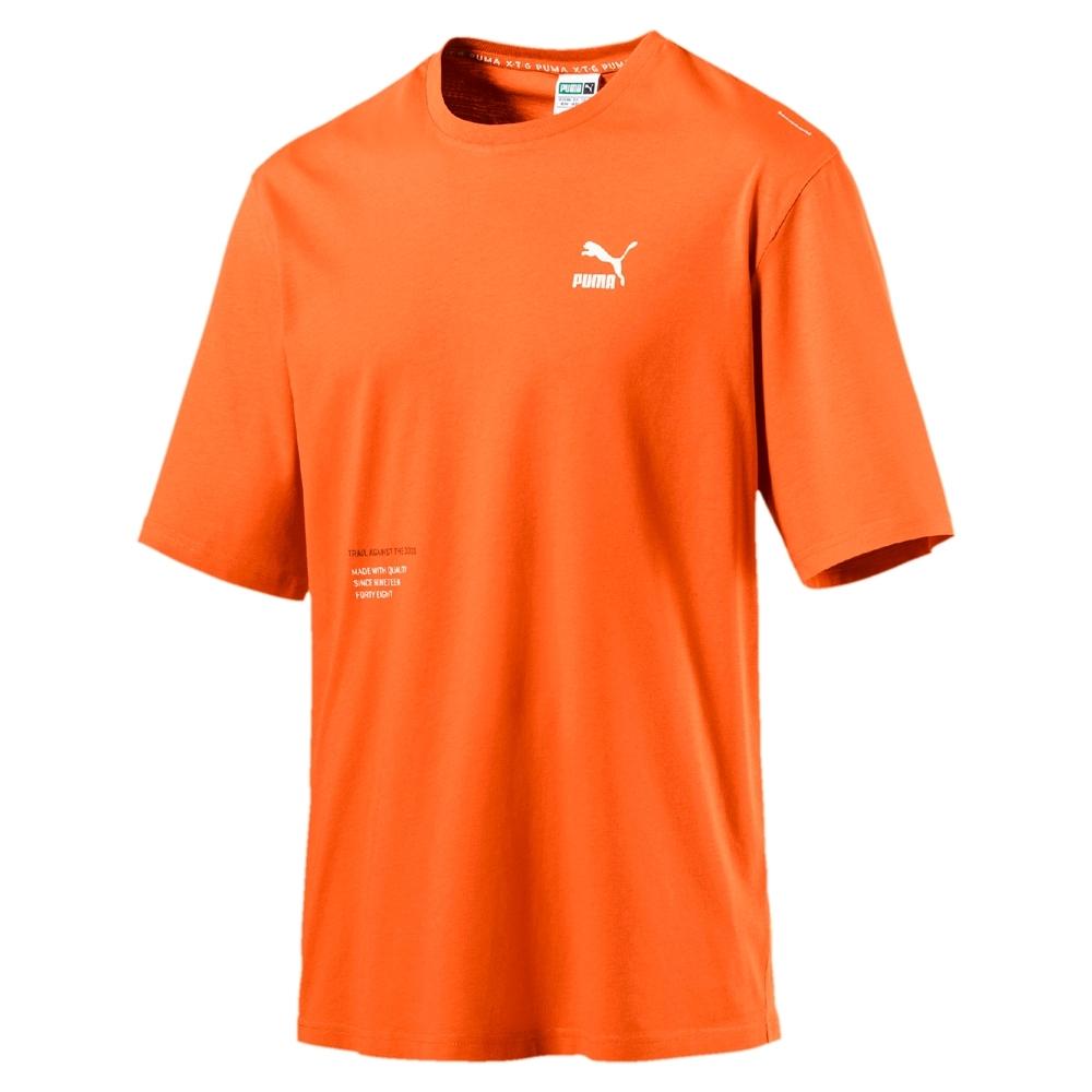 PUMA-男性流行系列XTG Trail短袖T恤-棕橙色-歐規