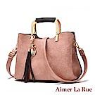 Aimer La Rue 納塔爾淑女方型鐵環手提側背包(三色)