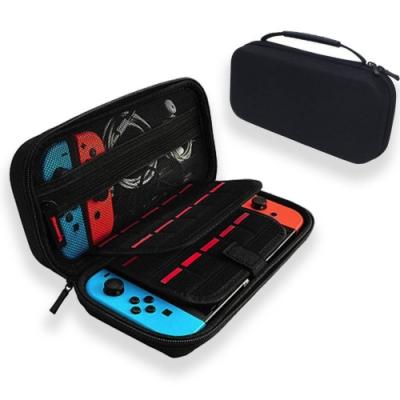 Nintendo任天堂 Switch主機/雙層遊戲卡多功能收納包 黑