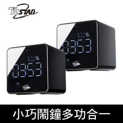 [時時樂限定]TCSTAR TCS1170 可攜式插卡鬧鐘多功能無線藍牙喇叭