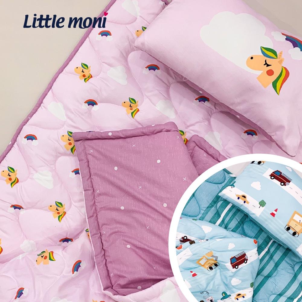 【little moni 】兒童寢具三件組(睡墊 涼被 枕頭) -飛翔獨角獸/城市汽車 2款任選