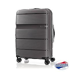 AT美國旅行者 24吋 Linex防刮耐衝擊硬殼TSA行李箱(深灰)
