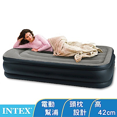 INTEX《豪華三層圍邊》單人加大充氣床-寬99x191x高51cm(64131ED)
