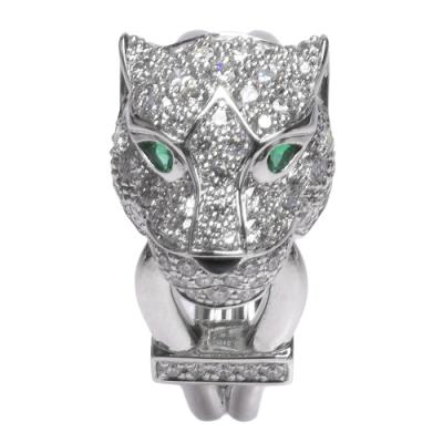 Cartier卡地亞PANTHERE DE CARTIER系列美洲豹造型鑽石戒指