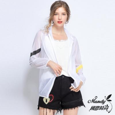 Mandy國際時尚  超薄透氣連帽防紫外線長袖外套 (大碼L-5XL)_預購