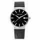 Valentino Coupeau 范倫鐵諾 古柏 時尚極簡設計腕錶【銀色/黑皮/黑釘】 product thumbnail 1