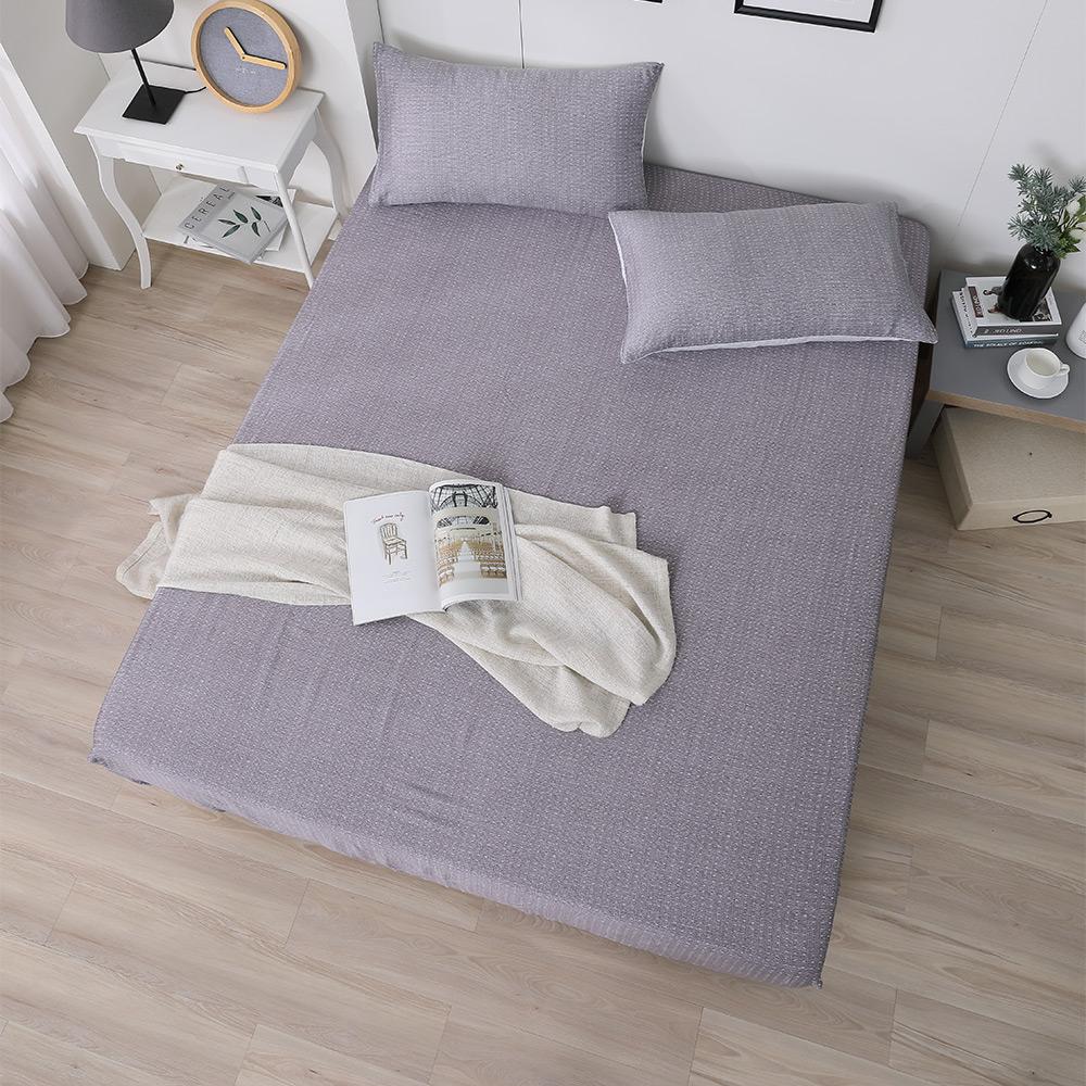 岱思夢 雙人100%天絲床包枕套三件組 一抹心念-咖