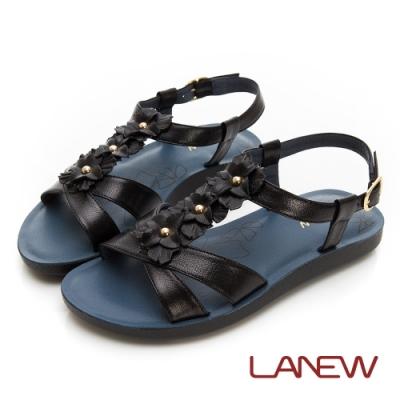 LA NEW SO Lite 彈力減壓 羊皮雕花涼鞋(女225063936)