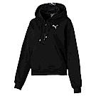 PUMA-女性訓練系列Feel it織帶長厚連帽T恤-黑色-歐規