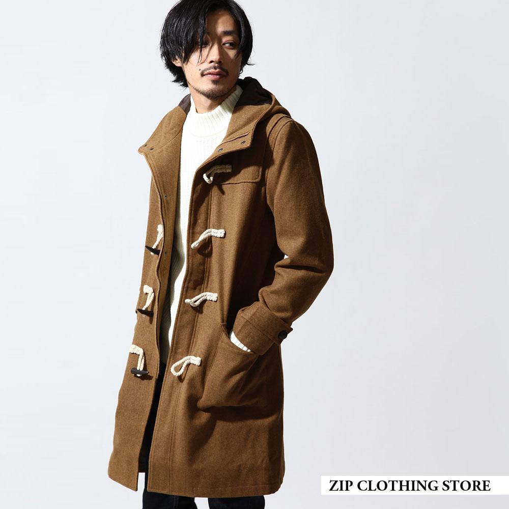 ZIP日本男裝 長版羊毛牛角釦外套(6色)