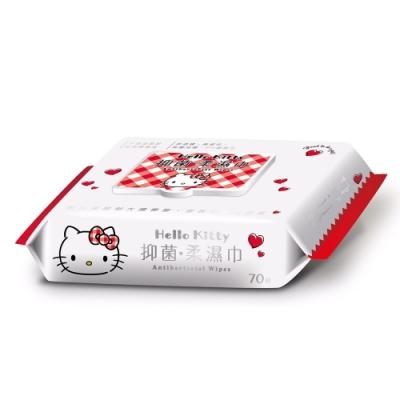 Sanrio 三麗鷗 Hello Kitty 凱蒂貓 抑菌加蓋濕紙巾 70抽X36包/箱
