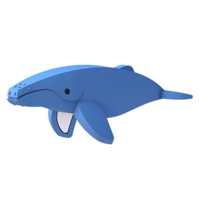 【HALFTOYS 哈福玩具】3D海洋樂園:HUMPBACK WHALE 座頭鯨 STEAM教育玩具