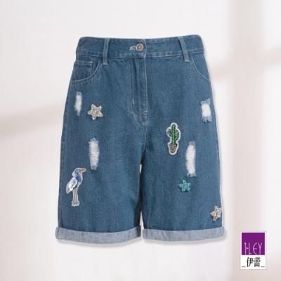 ILEY伊蕾 休閒夏日牛仔短褲(藍)