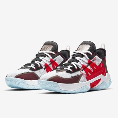 NIKE 籃球鞋 運動鞋 AJ 喬丹 包覆 緩震 男鞋 白紅 CW2458106 Jordan One Take II PF