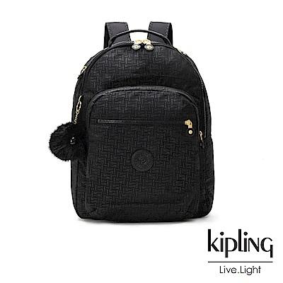 Kipling黑色幾何紋路後背包-CLAS SEOUL