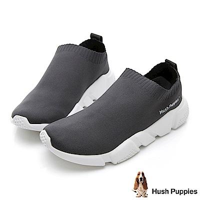 Hush Puppies Osprey 低筒襪套式針織休閒鞋(男)-灰