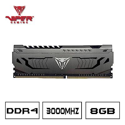 VIPER美商博帝 STEEL DDR4 3000 8GB桌上型記憶體