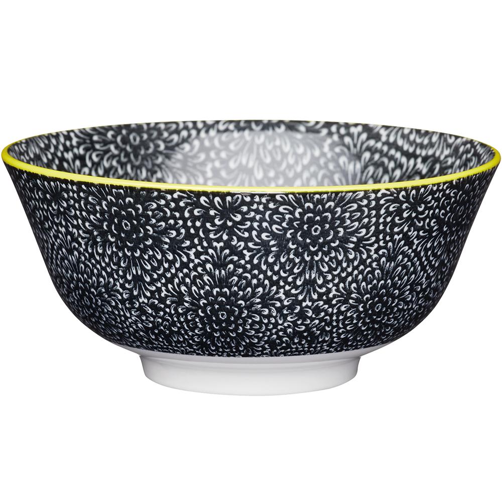《KitchenCraft》陶製餐碗(綻放黑)