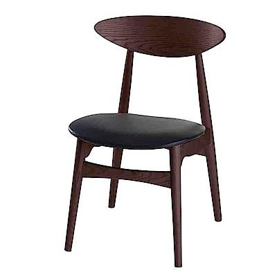 Boden-莫斯簡約皮質餐椅/單椅(兩色可選)-46x52x81cm