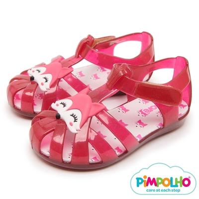 Pimpolho 頑皮狐狸編織童鞋-粉紅