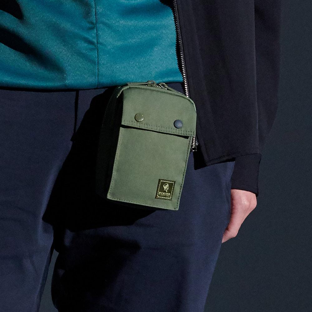 PORTER - 經典演繹LINDY輕量率性腰掛包 - 綠