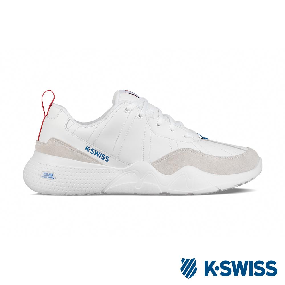 K-SWISS CR-329 LTR 老爹鞋-男-白/藍/紅