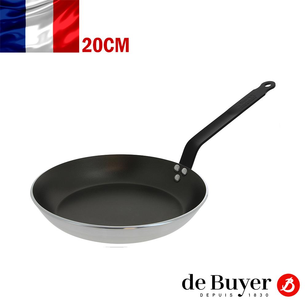 法國de Buyer畢耶 CHOC耐高溫黑握柄系列-5層平底不沾鍋20cm