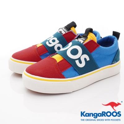 KangaROOS VISTA 帆布趣味童鞋-01325紅藍綠(中大童段)