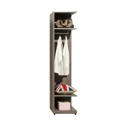 H&D 亞力士1.5尺開放衣櫃