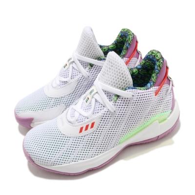 adidas 籃球鞋 Dame 7 J 運動 童鞋 愛迪達 玩具總動員 巴斯光年 緩震 中童 白 紫 FY4929