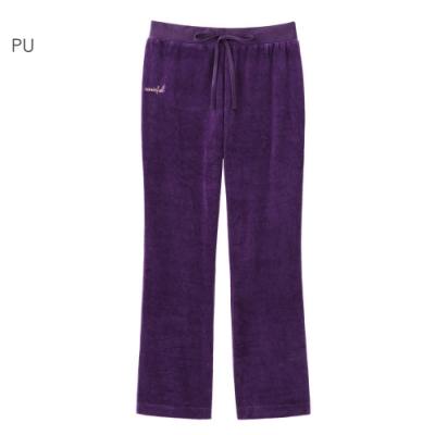 aimerfeel 素色絲絨運動服長褲-紫色-840250-PU