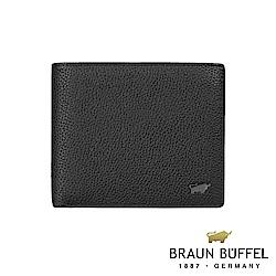 BRAUN BUFFEL - 米克系列8卡中間翻透明窗零錢皮夾 - 黑
