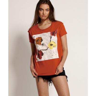 ONETEASPOON DYNAMIC FLORAL GIRLFRIEND T恤-紅(女)